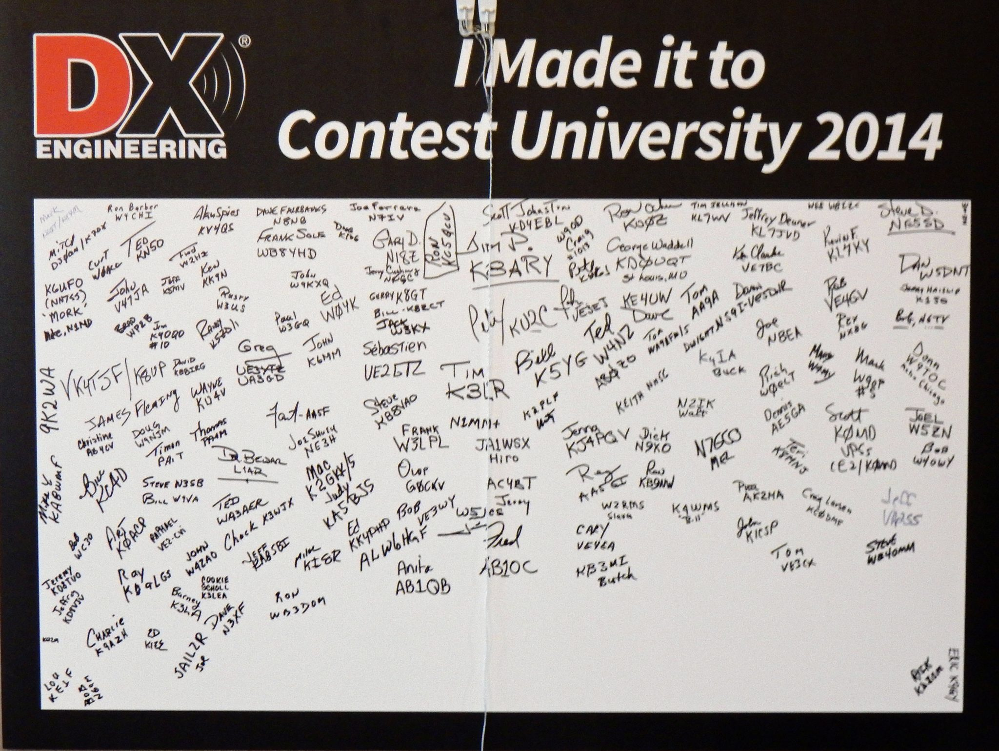 Contest university signature sheet